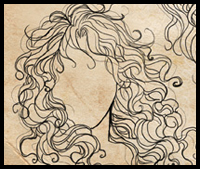 How To Draw Curly Hair And Afro Ethnic Hair Drawing Tutorials Drawing How To Draw People S Frizzy And Curly Hair Drawing Lessons Step By Step Techniques For Cartoons Illustrations