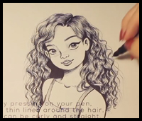How To Draw Curly Hair And Afro Ethnic Hair Drawing Tutorials