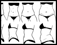 Drawing the Female Waist