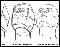 Heads Up : Drawing the Head and Neck from a Low Angle