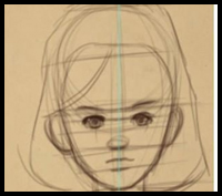Comic Penciling | 02 |How to Draw Female Child Proportion
