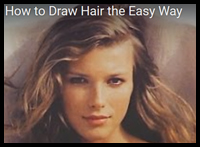 How to Draw Hair The Easy Way
