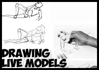 Drawing Live Models and How to Get the Best Poses : Quick Sketches with Charcoal