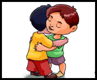 How To Draw Hugging People And Animals In Loving Embraces Easy Step