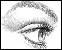 How to Draw Eye Lashes Step by Step