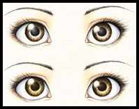 Realistic Manga / Anime Eyes