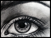 Here is a step by step drawing lesson for drawing realistic human eyes