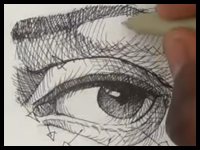 how to draw a realistic eye with pen