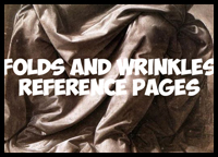 Drawing Wrinkles, Folds, Drapery, and Pleats Reference Pages for Artists