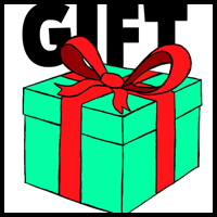 how to draw a wrapped gift