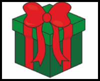 learn how to draw a christmas present