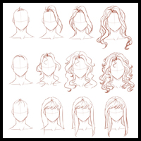 How You Draw Long Hair Styles