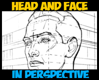 How to Draw the Face and Head in Perspective to Keep Correct Proportions