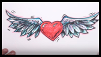 How To Draw Flying Heart