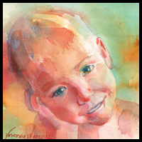 Drawing and Painting a Child's Portrait Step by Step