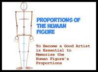 Learn How to Draw Human Figures in Correct Proportions by Memorizing Stick Figures