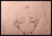 How to Draw Curly Hair and Afro Ethnic Hair: Drawing ...