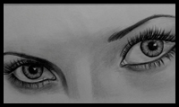 Drawing Eye Lashes on the Eyes