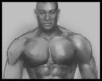 How to draw man muscles body anatomy