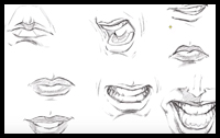 How to Draw Mouths : Step by Step Tutorial