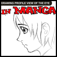 How to Draw Anime / Manga Eyes in Profile Side View : 4 Techniques in Drawing Tutorial