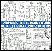 Drawing the Human Body and Figure in the Correct Proportions