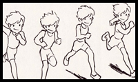 How to Draw Characters Running