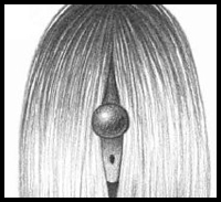 Learn how to draw this long and beautiful straight hair