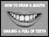 How to Draw a Smile Filled With Teeth