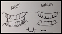Easy Pictures to Draw How to Draw Teeth [Video]