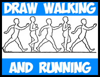 How to Draw People Walking and Running and Moving Around